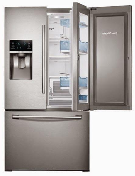 A French Door Refrigerator