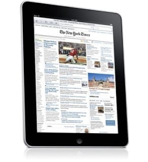 Apple iPad great for newspapers