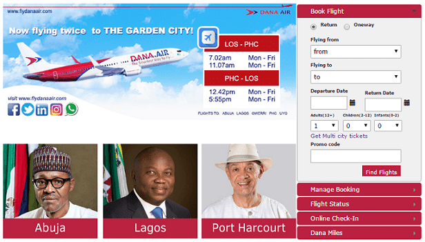 Dana Air Booking