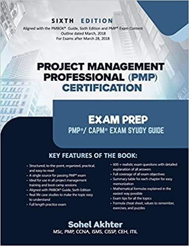 Project Management Professional (PMP) Certification Exam prep 6th Updated Edition