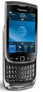 BlackBerry Torch 9800 Slide in and out