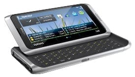 Nokia E7 physical QWERTY keyboard