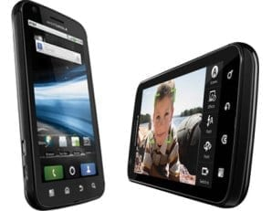 Motorola Atrix 4G Landscape and Portrait view