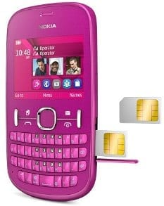 Nokia Asha 200 hot-swappable SIM