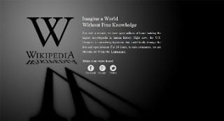 Wikipedia SOPA blackout page