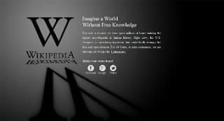 Wikipedia SOPA blackout page