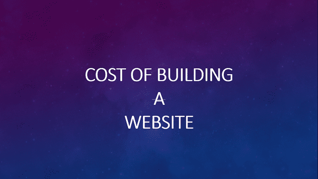 Cost of building and designing a website nigeria for Website building cost