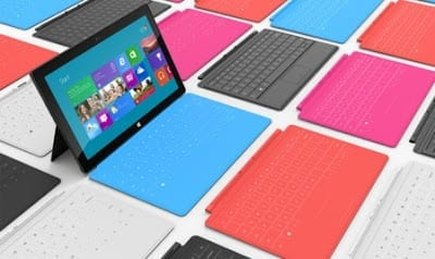 Microsoft Surface with colourful keyboard options