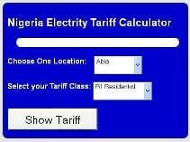 Nigeria Electricity Pricing - Finder Tool - Nigeria