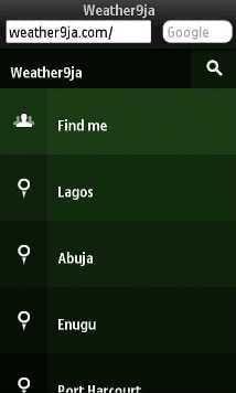 Weather Website for Nigeria