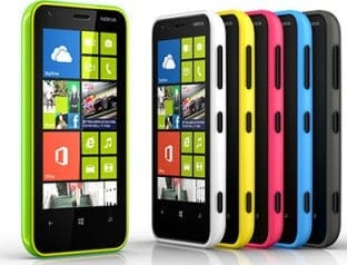 Nokia Lumia 620 in colours