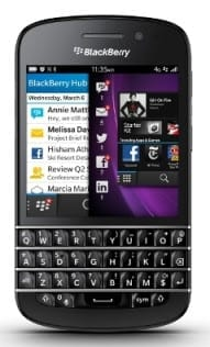 BlackBerry Q10 Specs Price & Availability