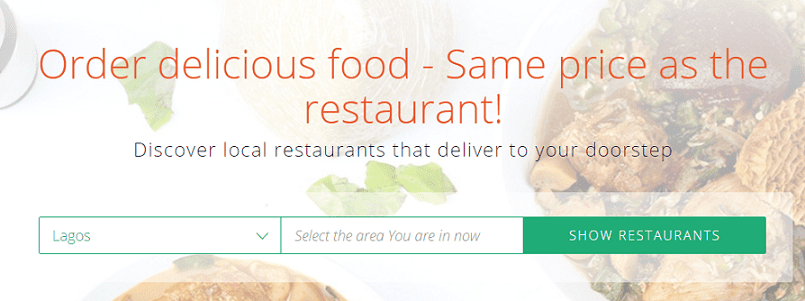 Jumia Food Interface