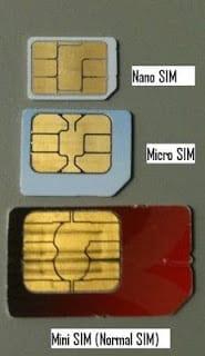 Micro SIM, Nano SIM, MiniSIM
