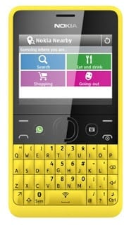 Nokia Asha 210 with WhatsApp Button