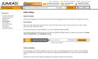 Order Tracking on Jumia