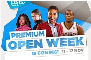 DSTV Premium Open Week November 2013