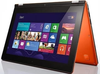 Lenovo IdeaPad Yoga 11S folded to Tent Mode