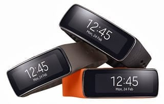 Samsung Gear Fit - All Three Colours