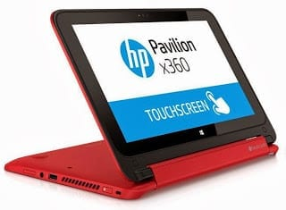 HP Pavilion x360 Convertible in Standing mode
