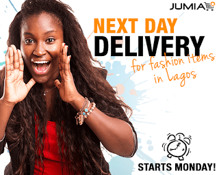 Jumia Next Day Delivery for Fashion