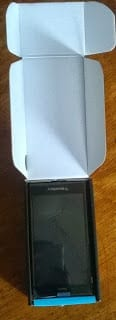 BlackBerry Z3 with box open