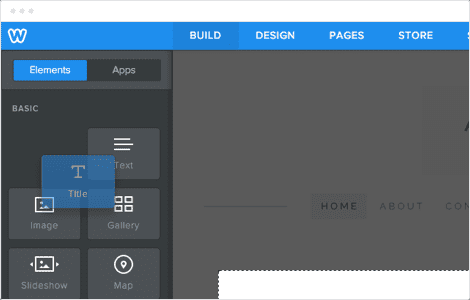 Weebly Drag and Drop UI