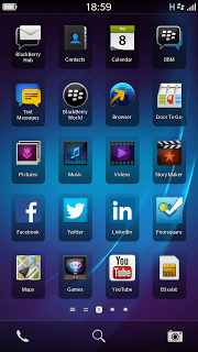 The Apps view for Z3