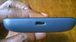 Nokia Lumia 530 bottom showing USB port