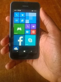 Lumia 530 in my hand