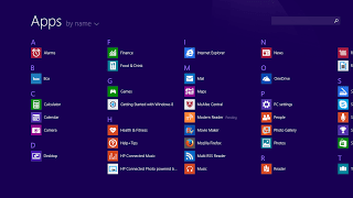 Windows 8 Apps View