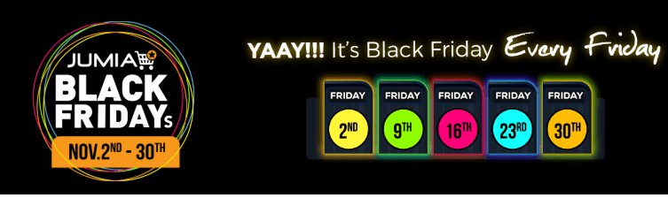 Jumia Black Friday 2018 Deals. Massive Deals Every Friday