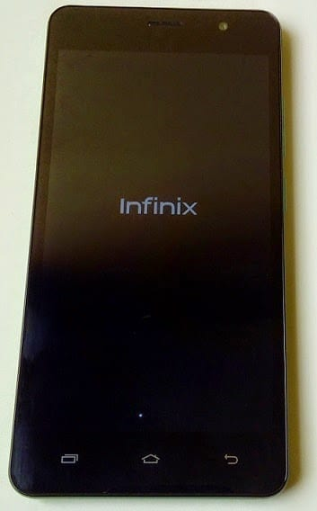 Infinix Hot Note booting up