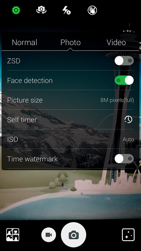 Camera settings of the Hot Note Phablet
