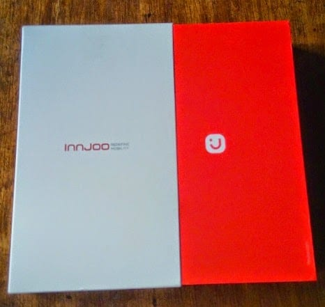 Innjoo Leap2 Red box sliding out of white Box