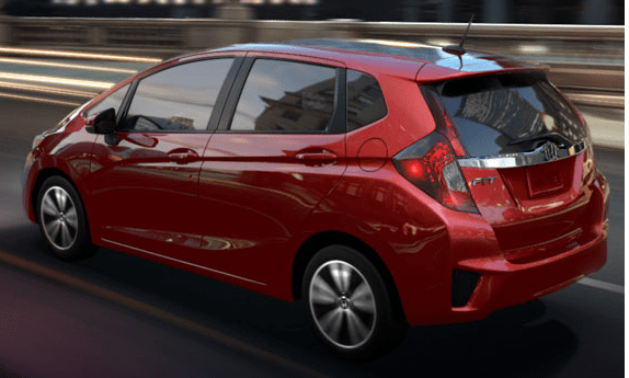 2015 Honda Fit Side and Rear View