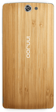 Innjoo Max showing wood textured back