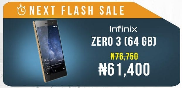 Jumia Mobile Week 2016 Flash Sale 1 Infinix Zero 3 64GB Image