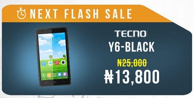Jumia Mobile Week 2016 Flash Sale 2 Tecno Y6 Image