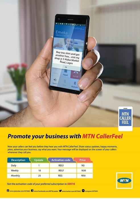 MTN CallerFeel – Promote Yourself or Business