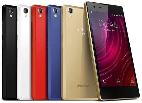 Infinix Hot 2 in Colours