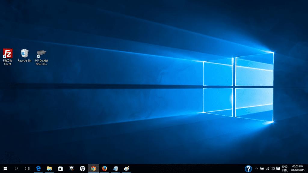 Dark Theme of Windows 10