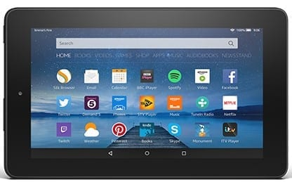 Amazon Fire Tablet in Landscape