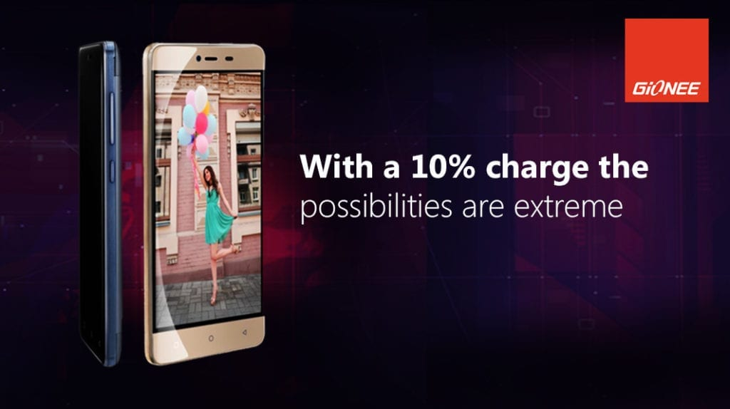 Gionee M5 Mini Just 10% Charge