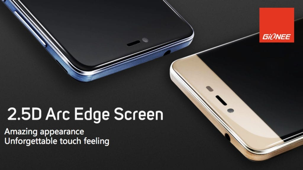 Gionee M5 Mini with 2.5D Arc Edge Screen