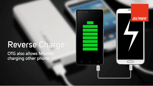 Gionee M5 Mini Reverse Charge