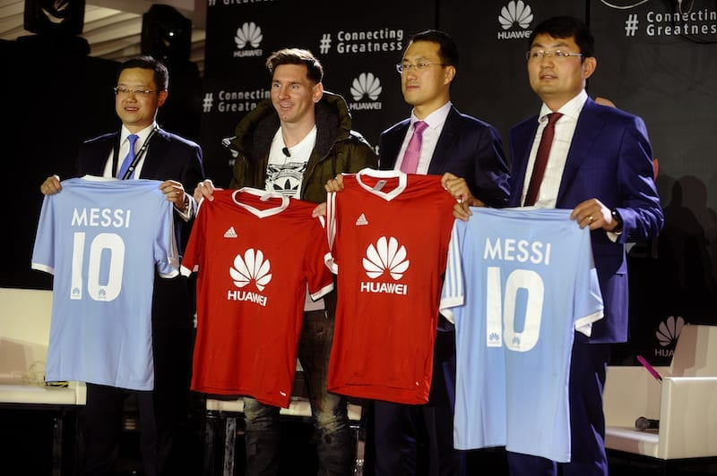 Huawei unveils Lionel Messi as partner