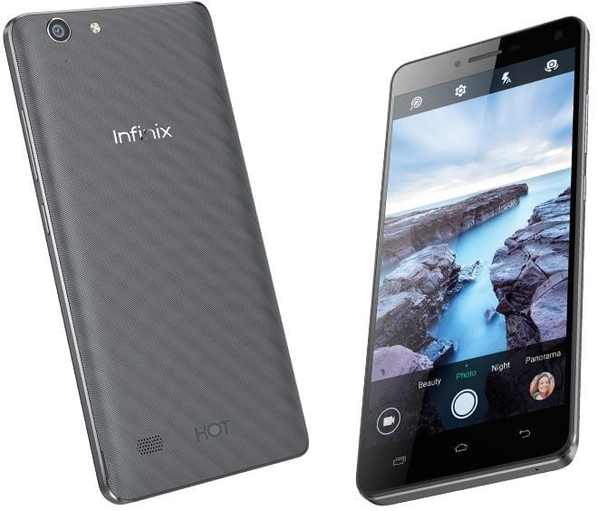 Infinix Hot 3 Front and Back