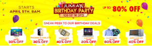 Jumia 4th Anniversary Deals – Jumia Birthday Party