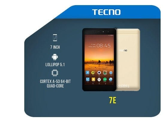 Tecno 7E Key Features Image